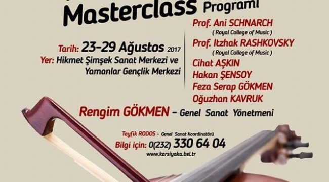 Şeflik- Oda Müziği kurslarına son başvuru 1 Ağustos