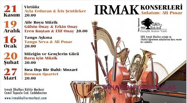 Irmak Konserleri'nde açılış 21 Kasım'da Ayla Erduran'la