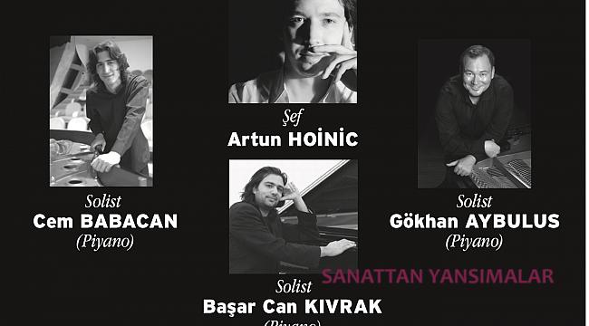 Üç iyi piyanist Bach'tan birer konçerto sunacak...