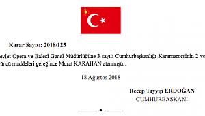 Murat Karahan DOB Genel Müdürlüğüne asaleten atandı