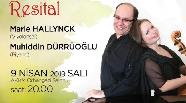 Marie Hallynck- Muhiddin Dürrüoğlu ikilisi 9 Nisanda Bursa'da