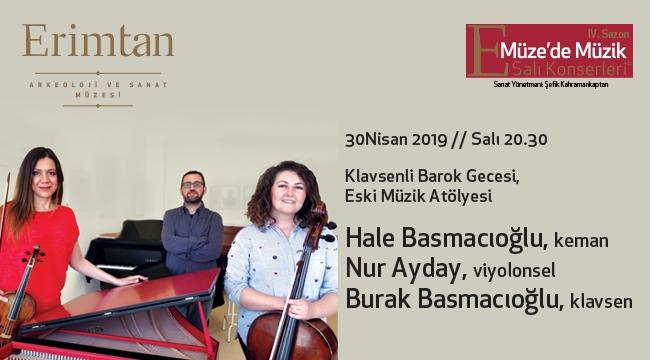 Erimtan'da 30 Nisan'da Klavsenli Barok Gecesi