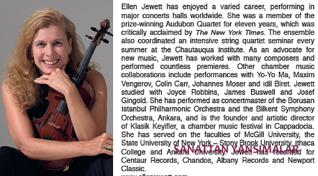 Ellen Jewett'in Türk bestecileri CD'si Naxos'ta