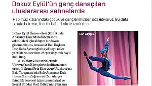 Dokuz Eylül'ün genç dansçıları uluslararası sahnelerde...