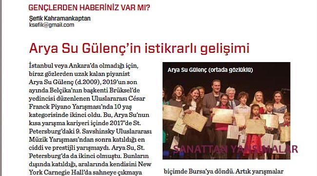 Emir Can Pehlivan, 15. Sun River Prize'ın Birincisi...