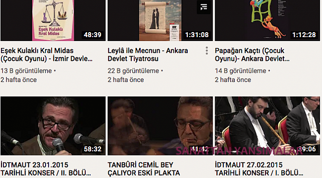Kültür Bakanlığı Youtube Kanalı Zenginleşiyor