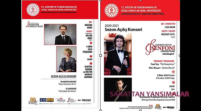 Bursa'da Gülsin Onay, Adana'da Bülent Evcil solist