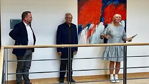 Mehmet Güler'in Tablosu Alman Parlamentosu'nda
