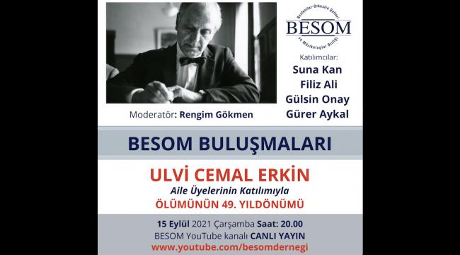 BESOM, 49. Ölüm Yıldönümünde Erkin'i Anıyor