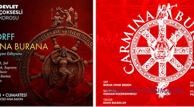 Carmina Burana 18 Eylül Ankara, 26 Eylül Aspendos'ta...