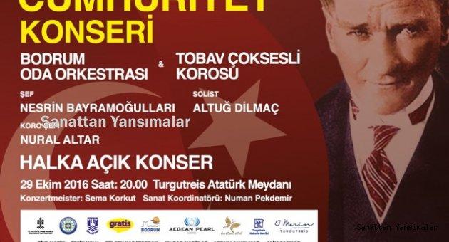 Bodrum Turgutreis'te 29 Ekim konseri