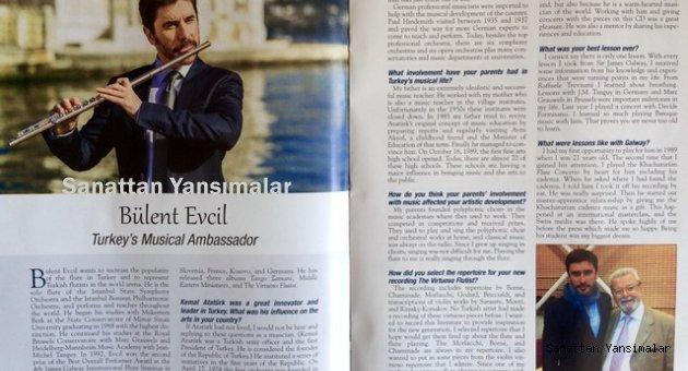 """""""Flute Talk""""un kapağında bir Türk virtüoz"""